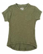 T-Shirts - SLUB V-NECK TEE (4-6X)