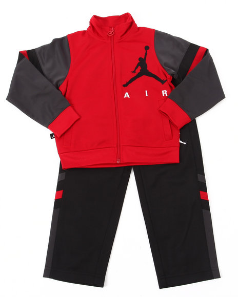 Air Jordan Boys Red Classic Varsity Tricot Set (4-7)