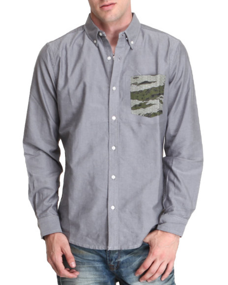 Hurley Camo Ace Oxford L/S Button-Down