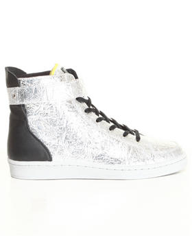 DJP OUTLET - Metallic SLVR Cupsole Hightop