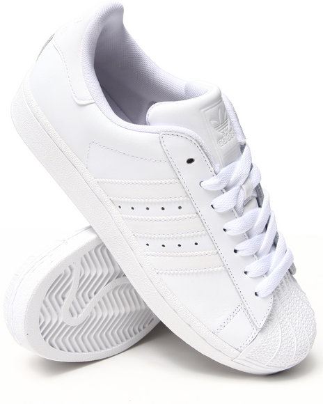 Adidas - Men White Superstar 2 White On White Sneakers