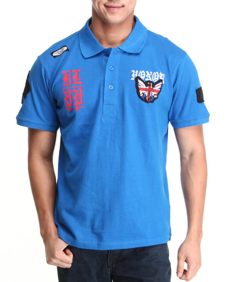 Blac Label Men Blue B L P P S/S Polo