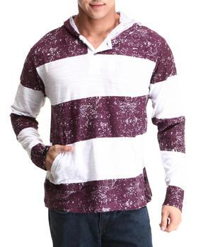 Basic Essentials - Hooded Knit Slub Pullover Top