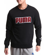 Men - Fleece Crewneck Chenille Applique Sweatshirt