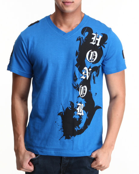 Blac Label Men Blue Honor S/S Tee