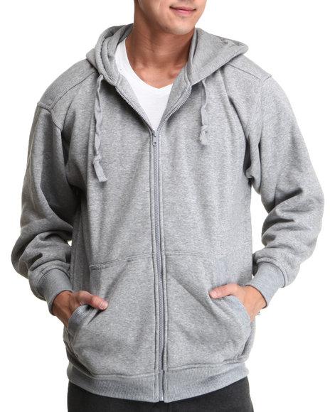 Basic Essentials - Men Grey Full Zip Hoodie - $14.99