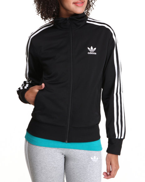 Adidas Black Adi Firebird Track Jacket