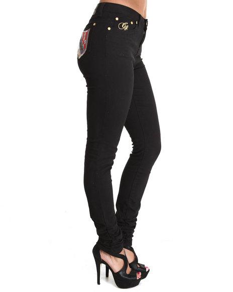 COOGI Black Coogi High Waist Pant W/Ruched Bottom