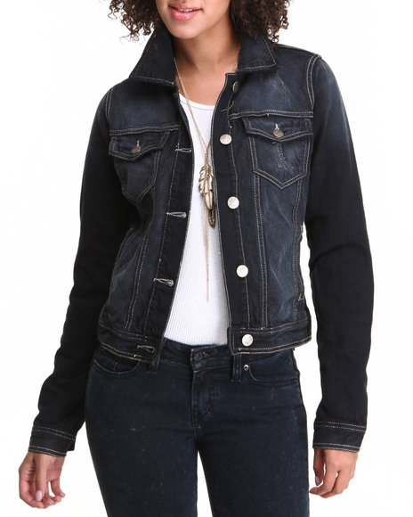 Basic Essentials - Women Black Basic Denim Jacket