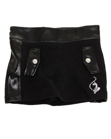 Baby Phat - Girls Black Ponte Skirt (2T-4T)