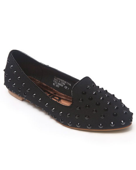 Kensie Girl Girls Black Studded Smoking Loafers