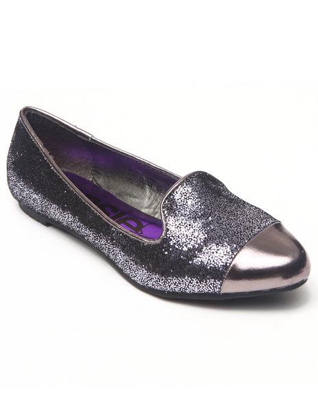 Kensie Girl Girls Silver Glitter Smoking Loafers (11-4)