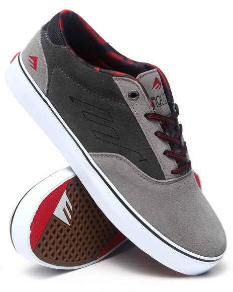 Emerica Grey The Provost Smooth Suede Sneakers