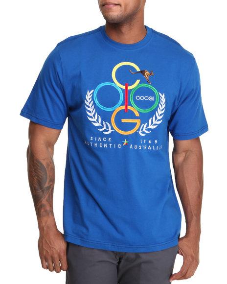 COOGI Men Blue Kangaroo Logo Tee