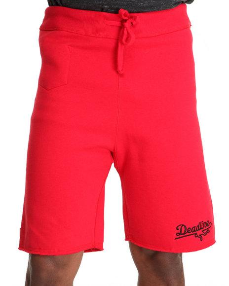 Deadline Red Sports Logo Sweat Shorts