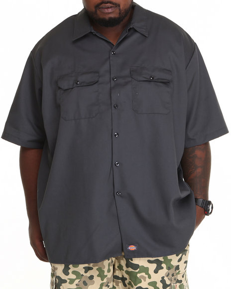 Dickies - Men Charcoal Dickies Short Sleeve Button-Down (B&T)