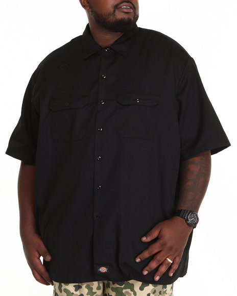 Dickies Black Button-Downs