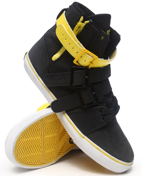 Radii Footwear - Men Black,Yellow Straight Jacket Sneakers