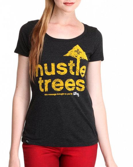 LRG Black Hustle Trees Tee