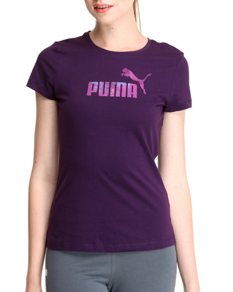 Puma Purple Logo Tee
