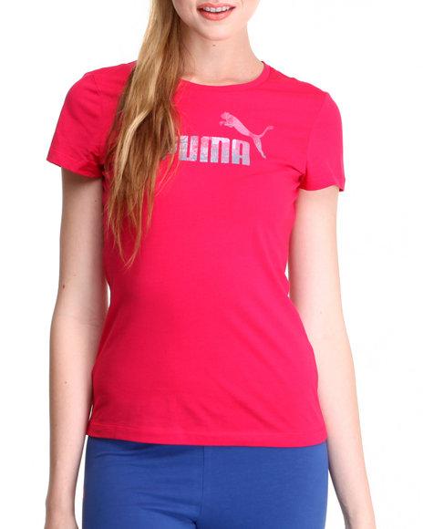 Puma Pink Logo Tee