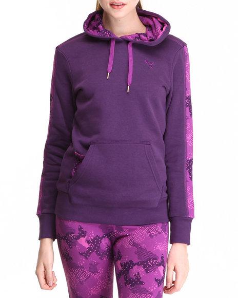 Puma - Women Purple Pullover Hoodie
