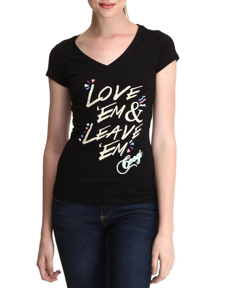 COOGI Black Love Em & Leave Em Tee