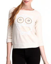 Tees - Embellished Owl Top