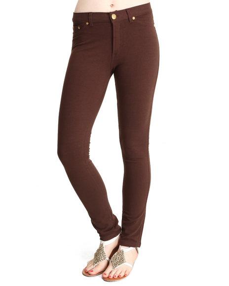 Basic Essentials Brown Moleton Pants
