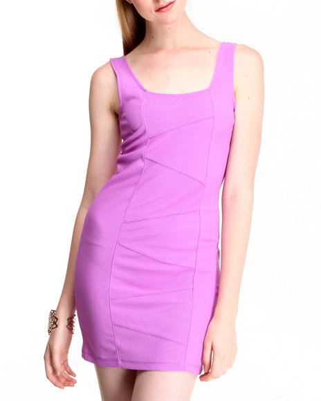 Fashion Lab - Women Purple Bodycon Sleeveless Dress