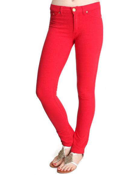 Basic Essentials Red Moleton Pants