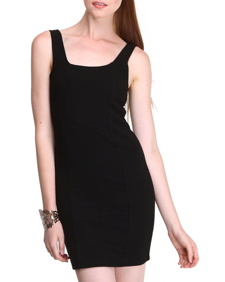 Fashion Lab - Women Black Bodycon Sleeveless Dress - $9.99