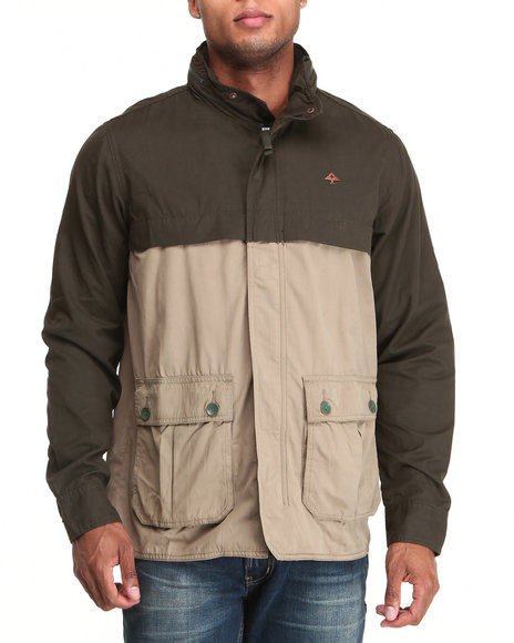 LRG - Men Olive, Tan Foundation Field Jacket