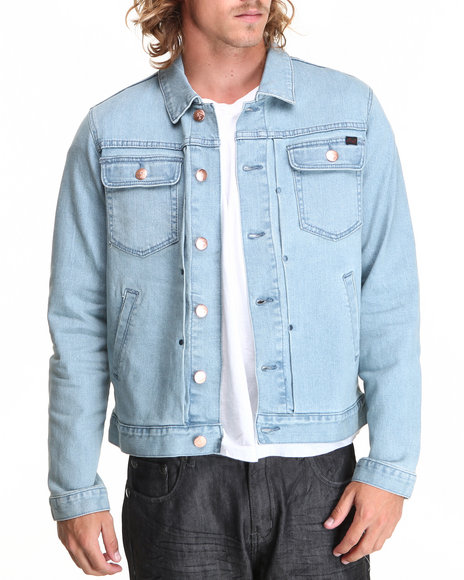 LRG - Men Light Wash Core Collection Denim Jacket
