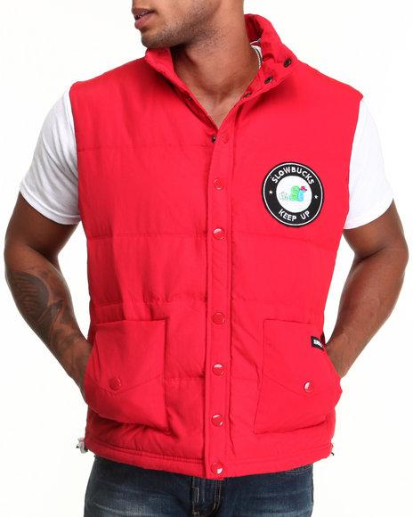 Slowbucks Red Puff Vest