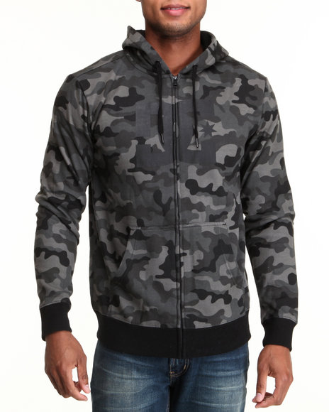 DC Shoes Camo T-Star Print Full Zip Hoodie