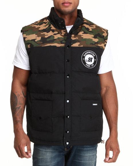 Slowbucks Camo Camo Puff Vest