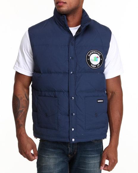 Slowbucks Blue Puff Vest