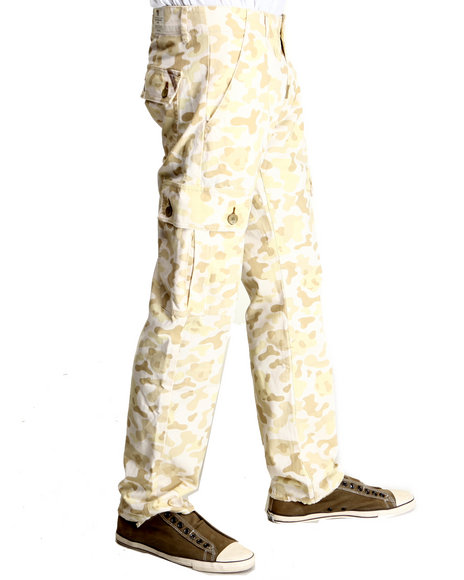 Lrg - Men White Panda Camo True-Straight Cargo Pants