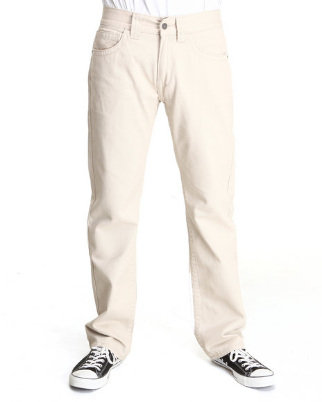 Pelle Pelle - Men Cream,Medium Wash,Wheat Flap Pocket Denim Jeans