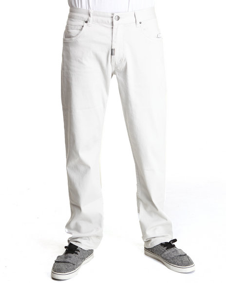 LRG Light Grey Gentry True-Straight Twill Pants