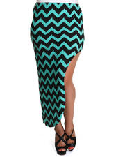 Fashion Lab - Funky Chevron Skirt w/side split (plus)