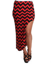 Women - Funky Chevron Skirt w/side split (plus)