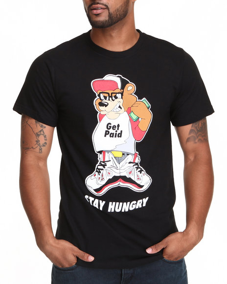 Graf-X Gallery - Men Black Street Approved Stay Hungry Tee