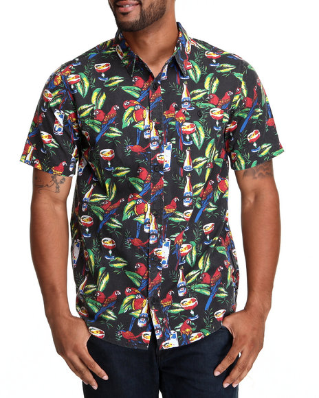 Dc Shoes - Men Black Happy Hour S/S Button-Down - $21.99