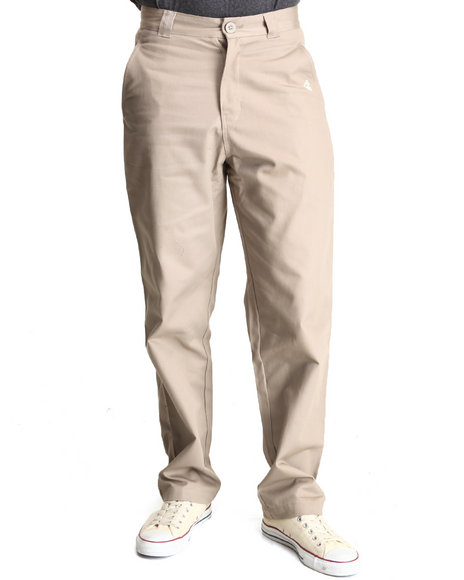 Famous Stars & Straps - Men Khaki Roam Straight Fit Pants