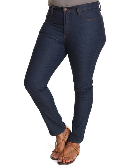 Fashion Lab Women Qb Straight Leg Denim Plus WPocket Detail Dark Blue 14