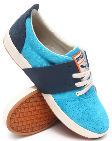 Puma - Men Blue El Ace 3 Mixed Sneakers