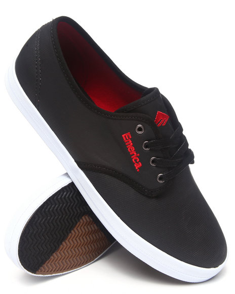 Emerica Black,Red Wino Coated Canvas Sneakers