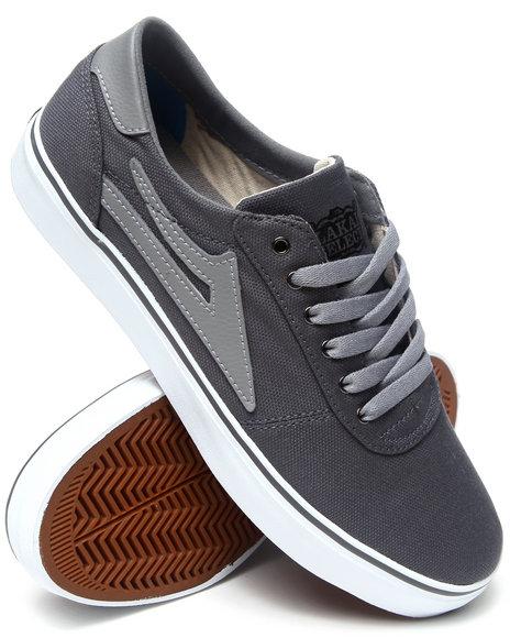 Lakai Grey Manchester Lean Gargoyle Canvas Sneakers